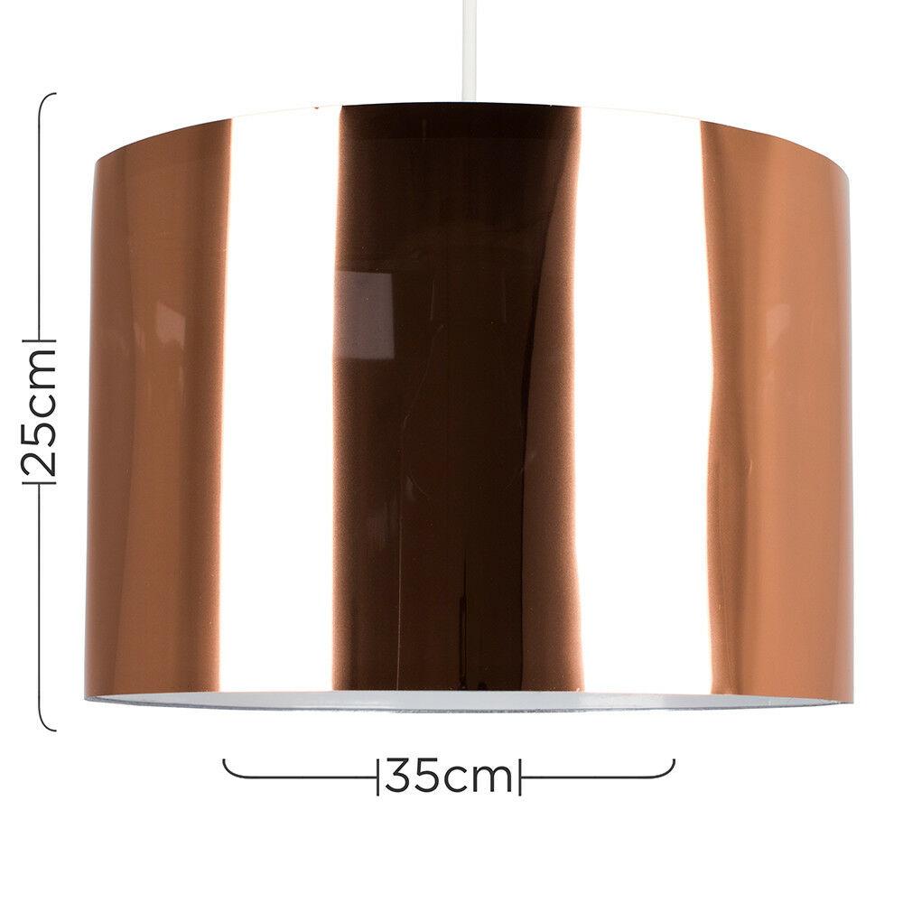 Modern-in-tessuto-cotone-Easy-Fit-Soffitto-Ciondolo-Luce-a-tamburo-Tonalita-Tavolo-Paralume miniatura 56