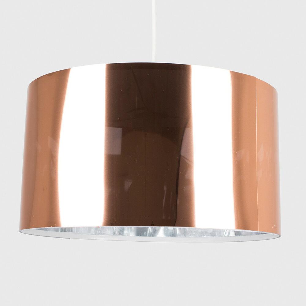 Modern-in-tessuto-cotone-Easy-Fit-Soffitto-Ciondolo-Luce-a-tamburo-Tonalita-Tavolo-Paralume miniatura 59