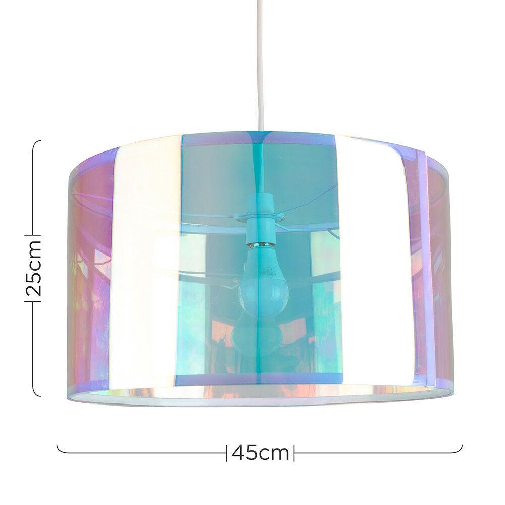 Modern-in-tessuto-cotone-Easy-Fit-Soffitto-Ciondolo-Luce-a-tamburo-Tonalita-Tavolo-Paralume miniatura 177