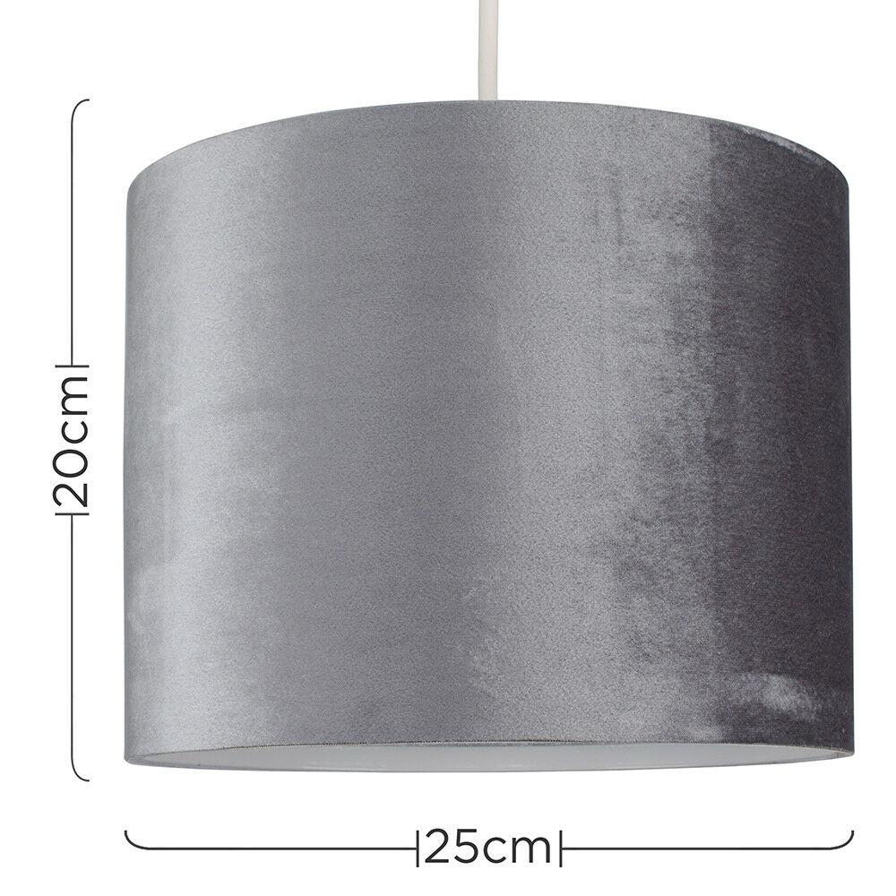 Modern-in-tessuto-cotone-Easy-Fit-Soffitto-Ciondolo-Luce-a-tamburo-Tonalita-Tavolo-Paralume miniatura 151