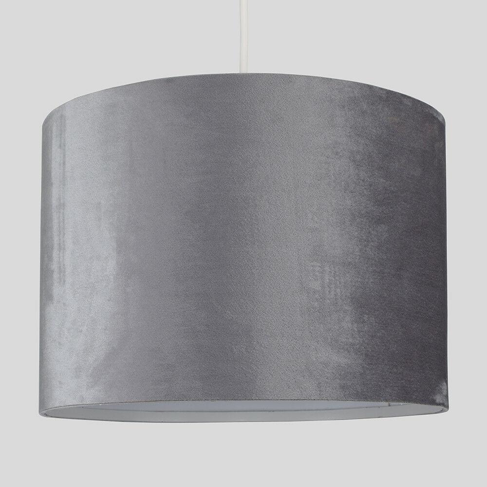 Modern-in-tessuto-cotone-Easy-Fit-Soffitto-Ciondolo-Luce-a-tamburo-Tonalita-Tavolo-Paralume miniatura 153