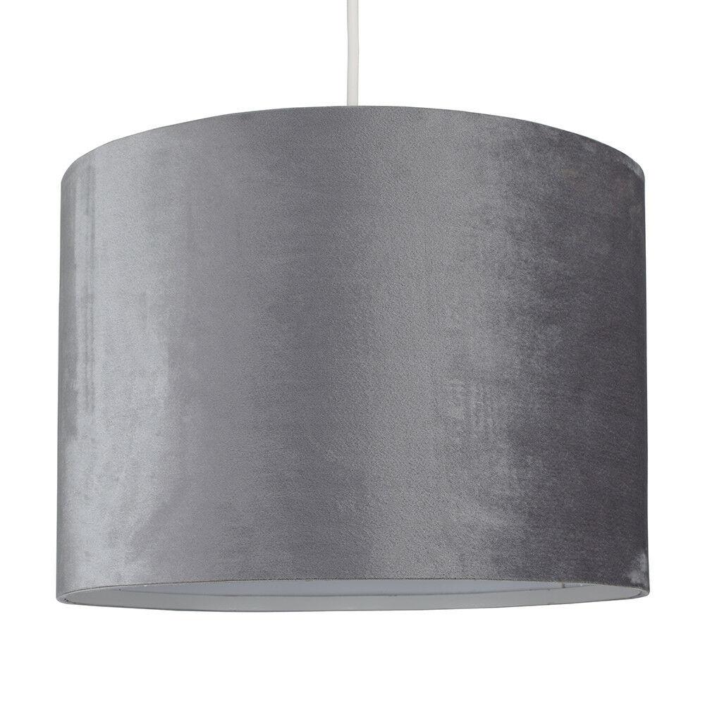 Modern-in-tessuto-cotone-Easy-Fit-Soffitto-Ciondolo-Luce-a-tamburo-Tonalita-Tavolo-Paralume miniatura 152