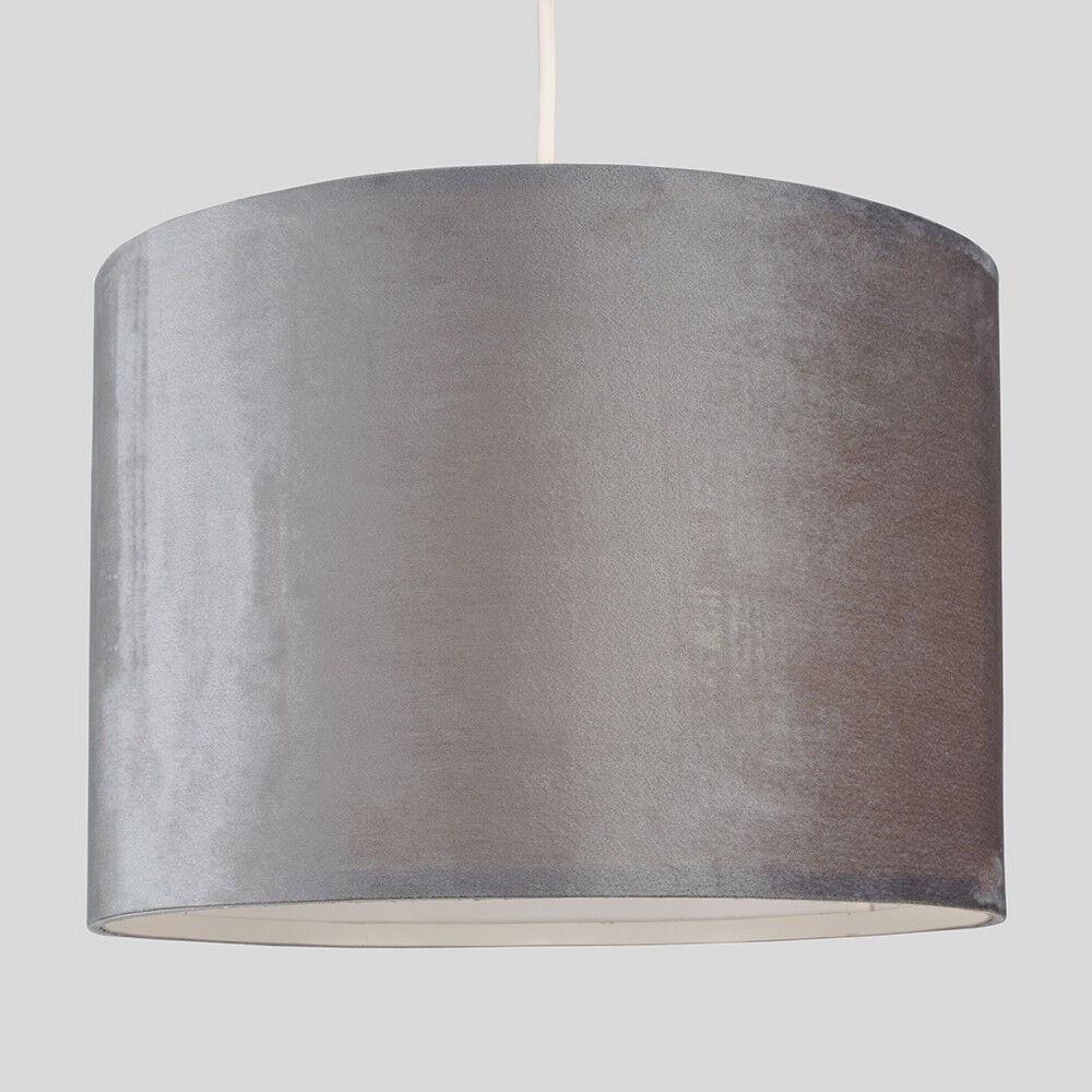 Modern-in-tessuto-cotone-Easy-Fit-Soffitto-Ciondolo-Luce-a-tamburo-Tonalita-Tavolo-Paralume miniatura 154