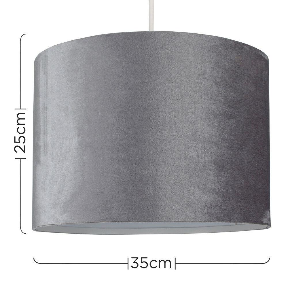 Modern-in-tessuto-cotone-Easy-Fit-Soffitto-Ciondolo-Luce-a-tamburo-Tonalita-Tavolo-Paralume miniatura 155