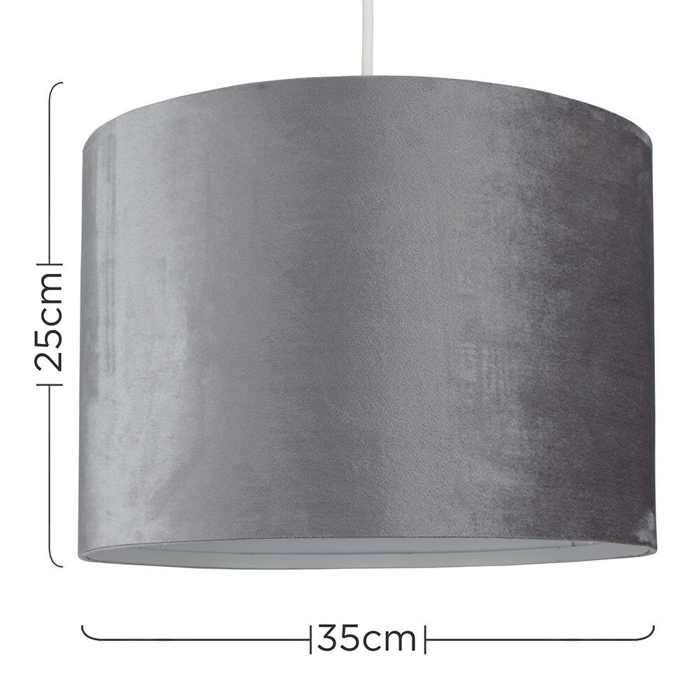 Tela-moderna-algodon-facil-ajuste-Techo-Colgante-Pantalla-De-Mesa-tonos-de-luz-de-tambor miniatura 155