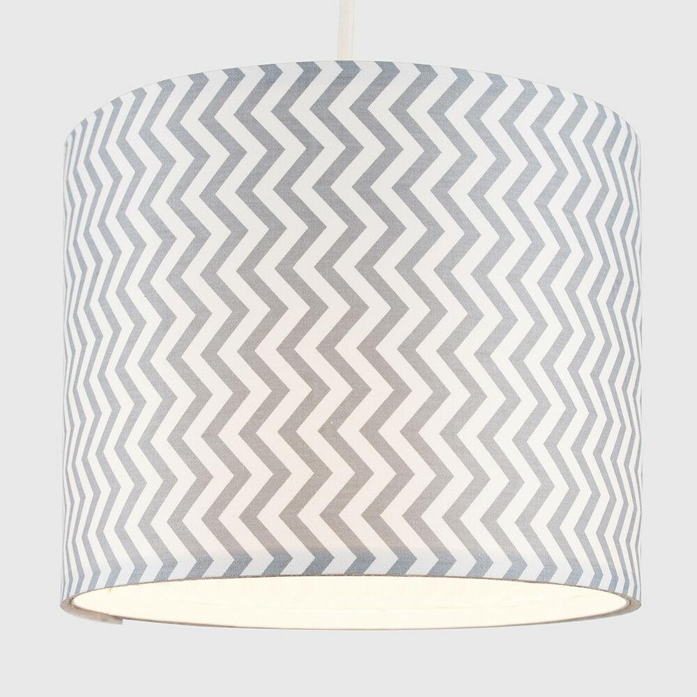 Modern-in-tessuto-cotone-Easy-Fit-Soffitto-Ciondolo-Luce-a-tamburo-Tonalita-Tavolo-Paralume miniatura 251