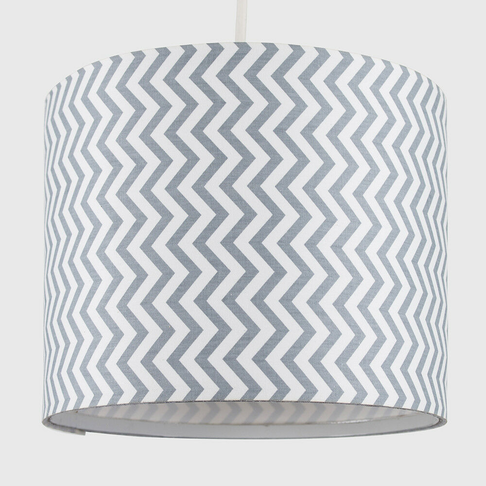 Modern-in-tessuto-cotone-Easy-Fit-Soffitto-Ciondolo-Luce-a-tamburo-Tonalita-Tavolo-Paralume miniatura 250