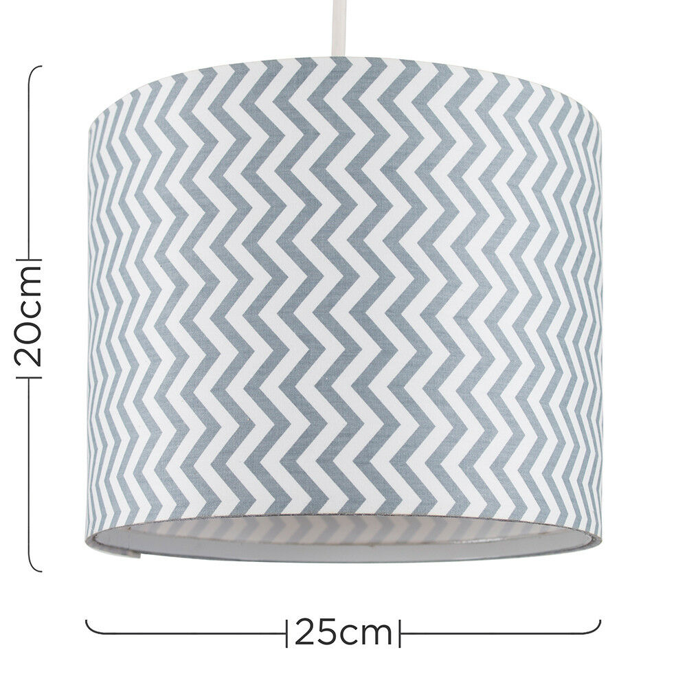Modern-in-tessuto-cotone-Easy-Fit-Soffitto-Ciondolo-Luce-a-tamburo-Tonalita-Tavolo-Paralume miniatura 253