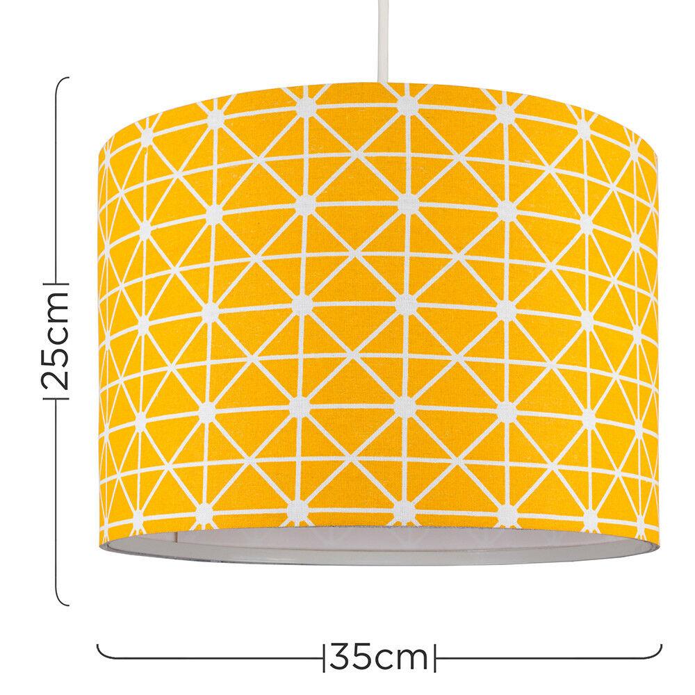 Modern-in-tessuto-cotone-Easy-Fit-Soffitto-Ciondolo-Luce-a-tamburo-Tonalita-Tavolo-Paralume miniatura 243