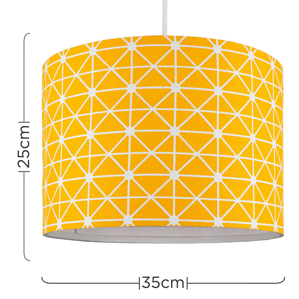 Tela-moderna-algodon-facil-ajuste-Techo-Colgante-Pantalla-De-Mesa-tonos-de-luz-de-tambor miniatura 243