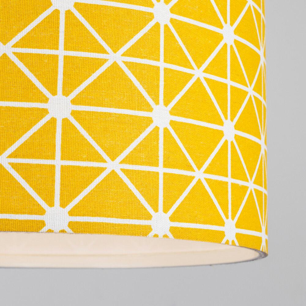 Modern-in-tessuto-cotone-Easy-Fit-Soffitto-Ciondolo-Luce-a-tamburo-Tonalita-Tavolo-Paralume miniatura 242