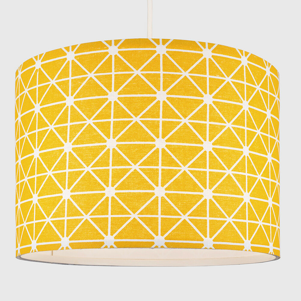 Tela-moderna-algodon-facil-ajuste-Techo-Colgante-Pantalla-De-Mesa-tonos-de-luz-de-tambor miniatura 241