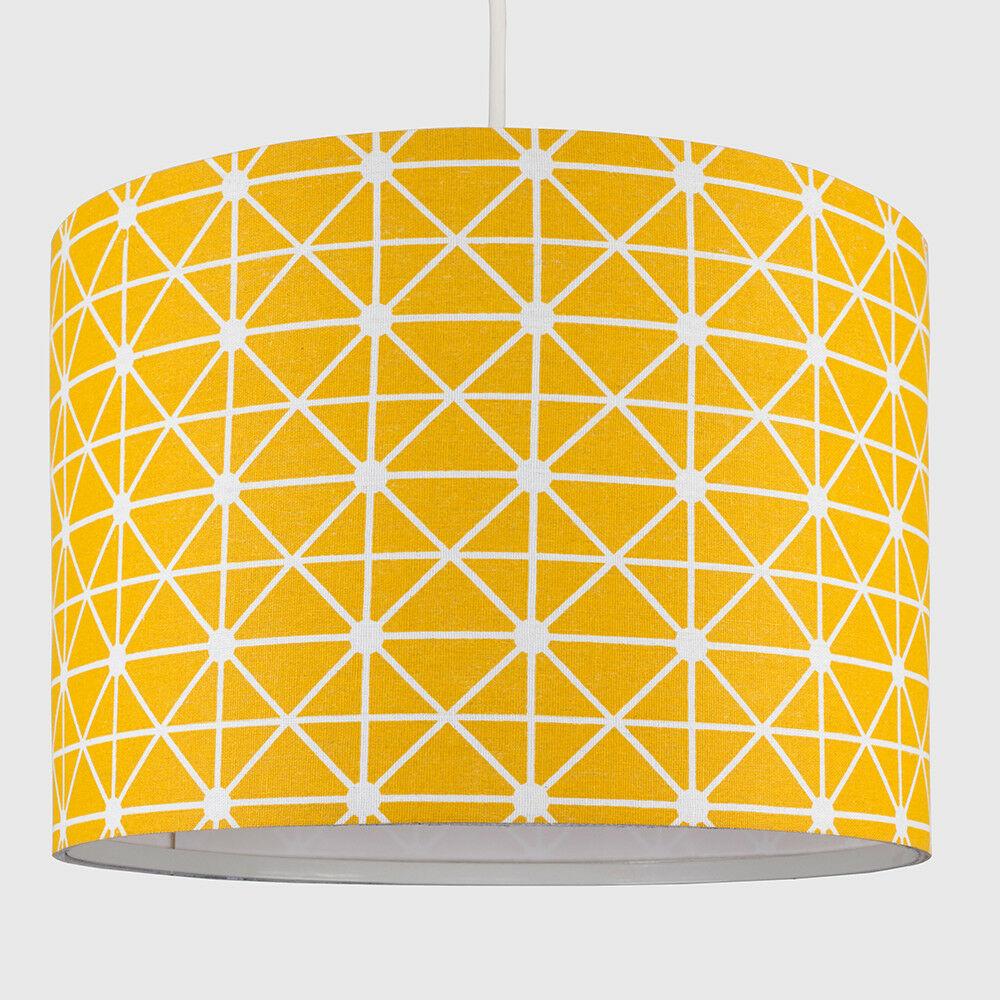 Modern-in-tessuto-cotone-Easy-Fit-Soffitto-Ciondolo-Luce-a-tamburo-Tonalita-Tavolo-Paralume miniatura 240