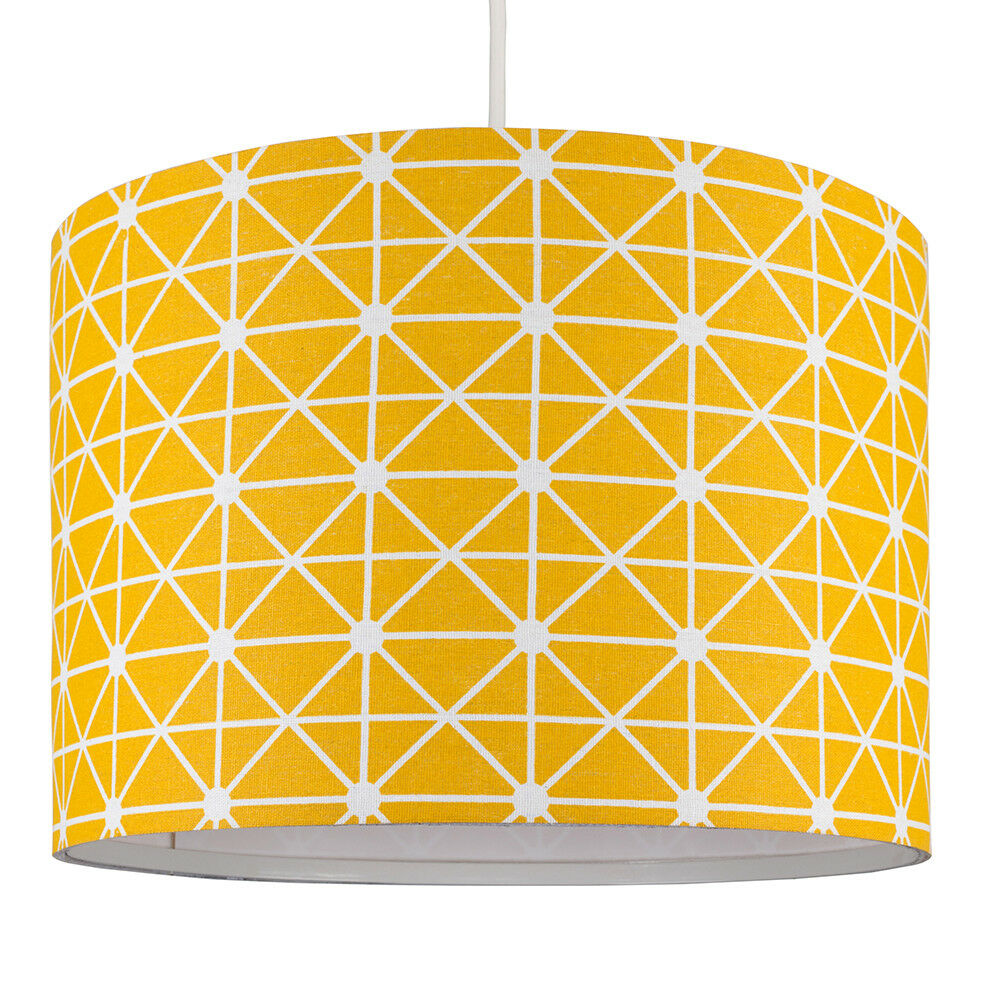 Modern-in-tessuto-cotone-Easy-Fit-Soffitto-Ciondolo-Luce-a-tamburo-Tonalita-Tavolo-Paralume miniatura 239