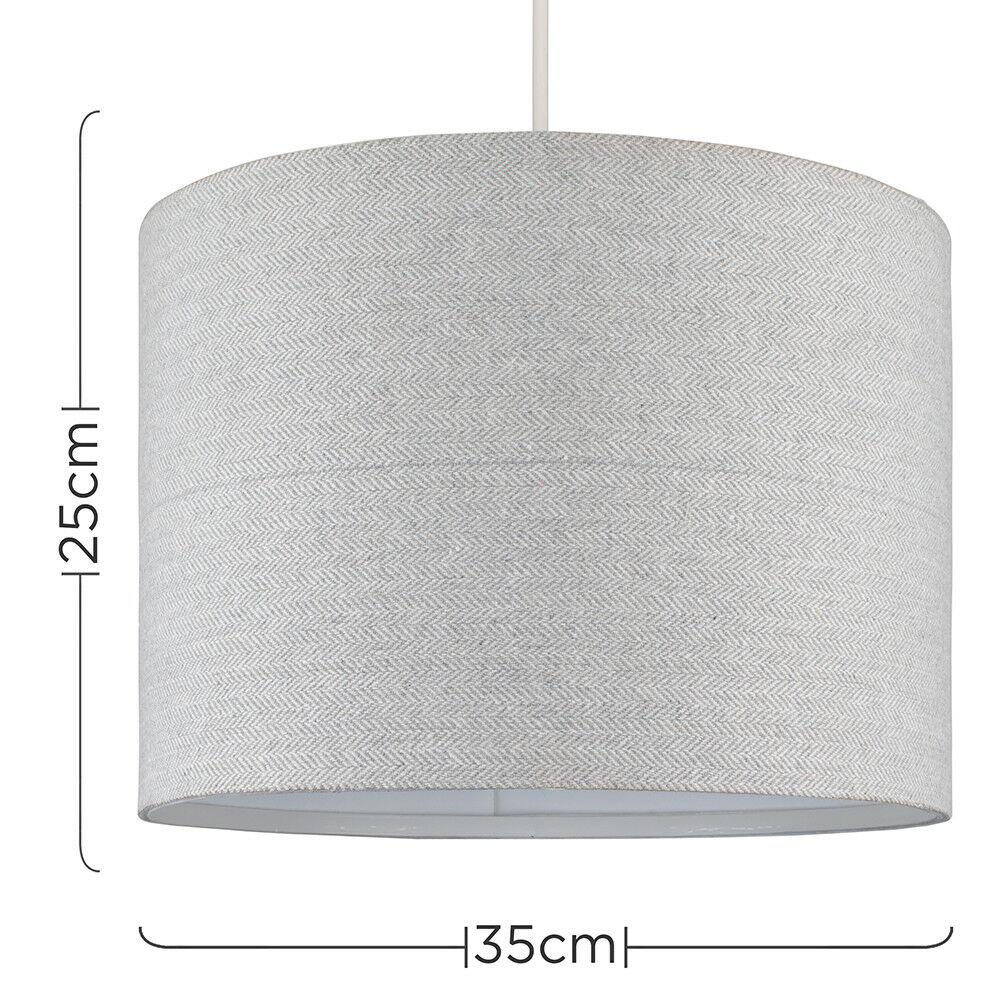 Modern-in-tessuto-cotone-Easy-Fit-Soffitto-Ciondolo-Luce-a-tamburo-Tonalita-Tavolo-Paralume miniatura 162