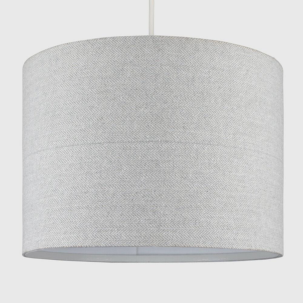 Modern-in-tessuto-cotone-Easy-Fit-Soffitto-Ciondolo-Luce-a-tamburo-Tonalita-Tavolo-Paralume miniatura 163