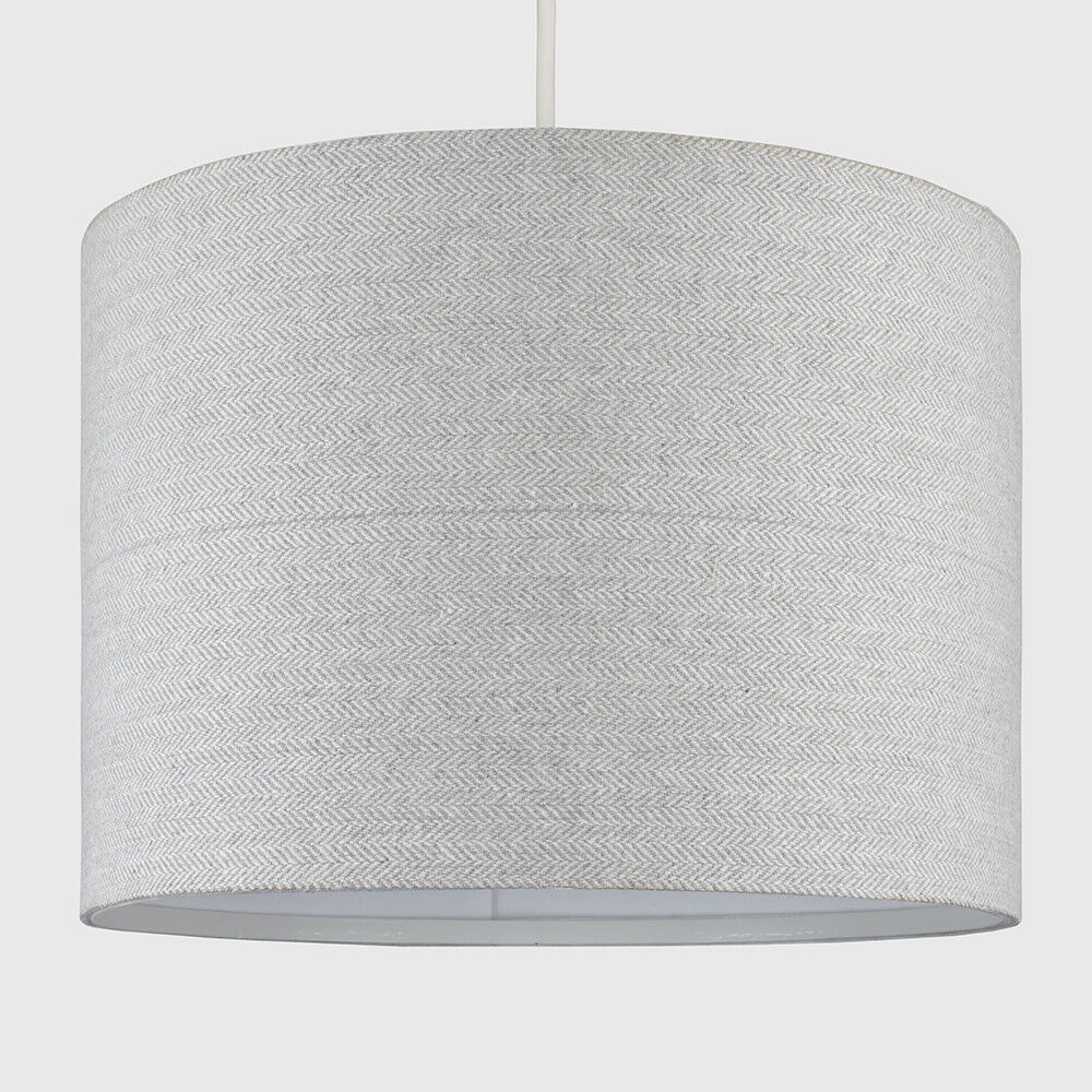 Tela-moderna-algodon-facil-ajuste-Techo-Colgante-Pantalla-De-Mesa-tonos-de-luz-de-tambor miniatura 163