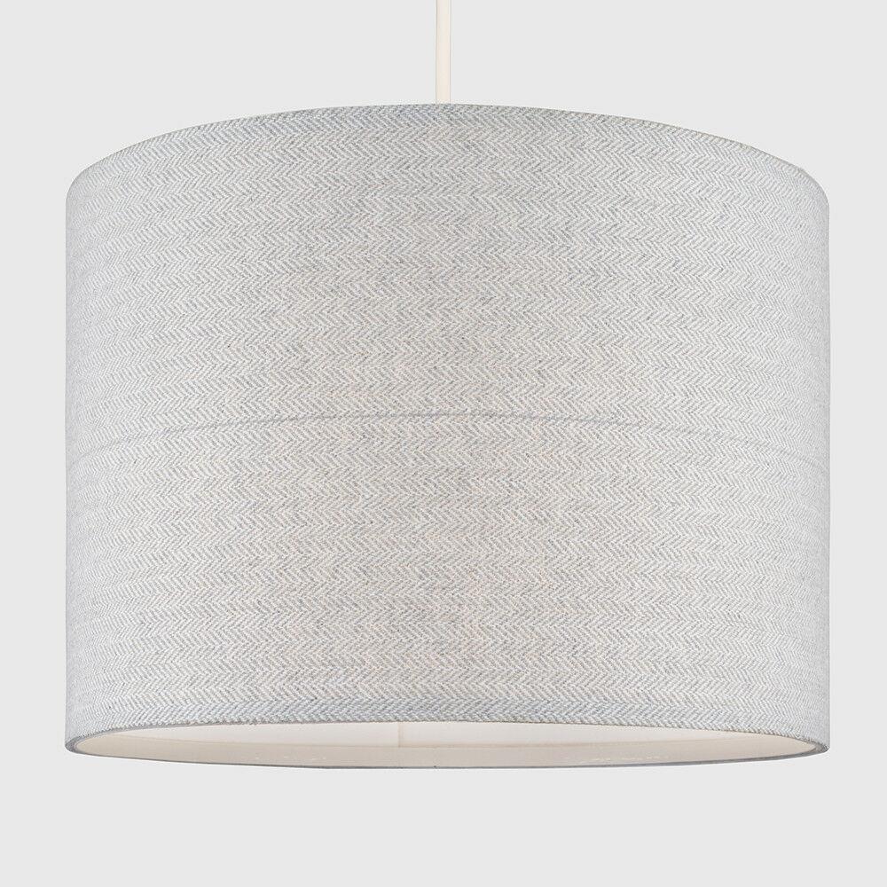 Modern-in-tessuto-cotone-Easy-Fit-Soffitto-Ciondolo-Luce-a-tamburo-Tonalita-Tavolo-Paralume miniatura 164