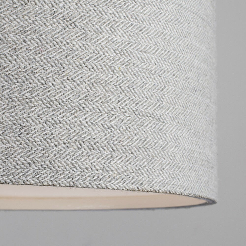 Modern-in-tessuto-cotone-Easy-Fit-Soffitto-Ciondolo-Luce-a-tamburo-Tonalita-Tavolo-Paralume miniatura 165
