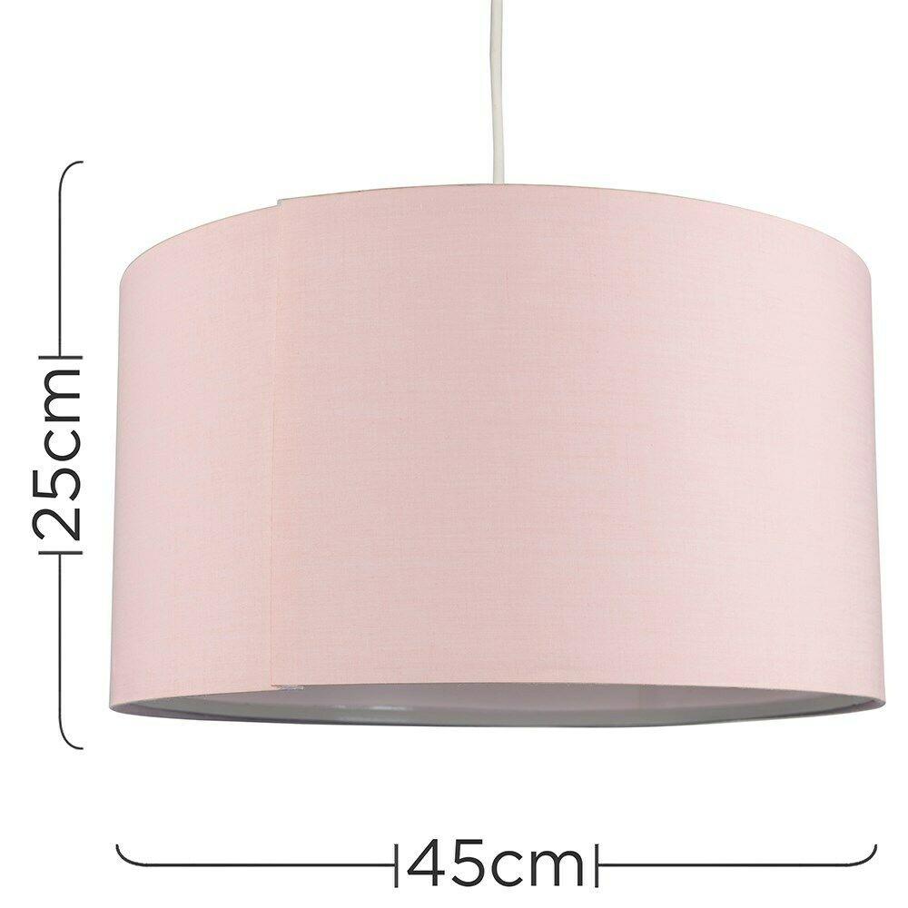 Modern-in-tessuto-cotone-Easy-Fit-Soffitto-Ciondolo-Luce-a-tamburo-Tonalita-Tavolo-Paralume miniatura 93