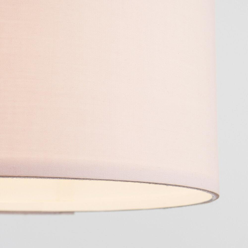 Modern-in-tessuto-cotone-Easy-Fit-Soffitto-Ciondolo-Luce-a-tamburo-Tonalita-Tavolo-Paralume miniatura 90