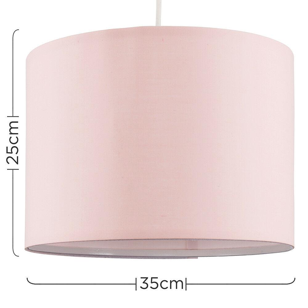 Modern-in-tessuto-cotone-Easy-Fit-Soffitto-Ciondolo-Luce-a-tamburo-Tonalita-Tavolo-Paralume miniatura 92