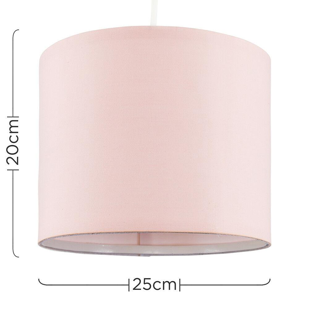 Modern-in-tessuto-cotone-Easy-Fit-Soffitto-Ciondolo-Luce-a-tamburo-Tonalita-Tavolo-Paralume miniatura 91