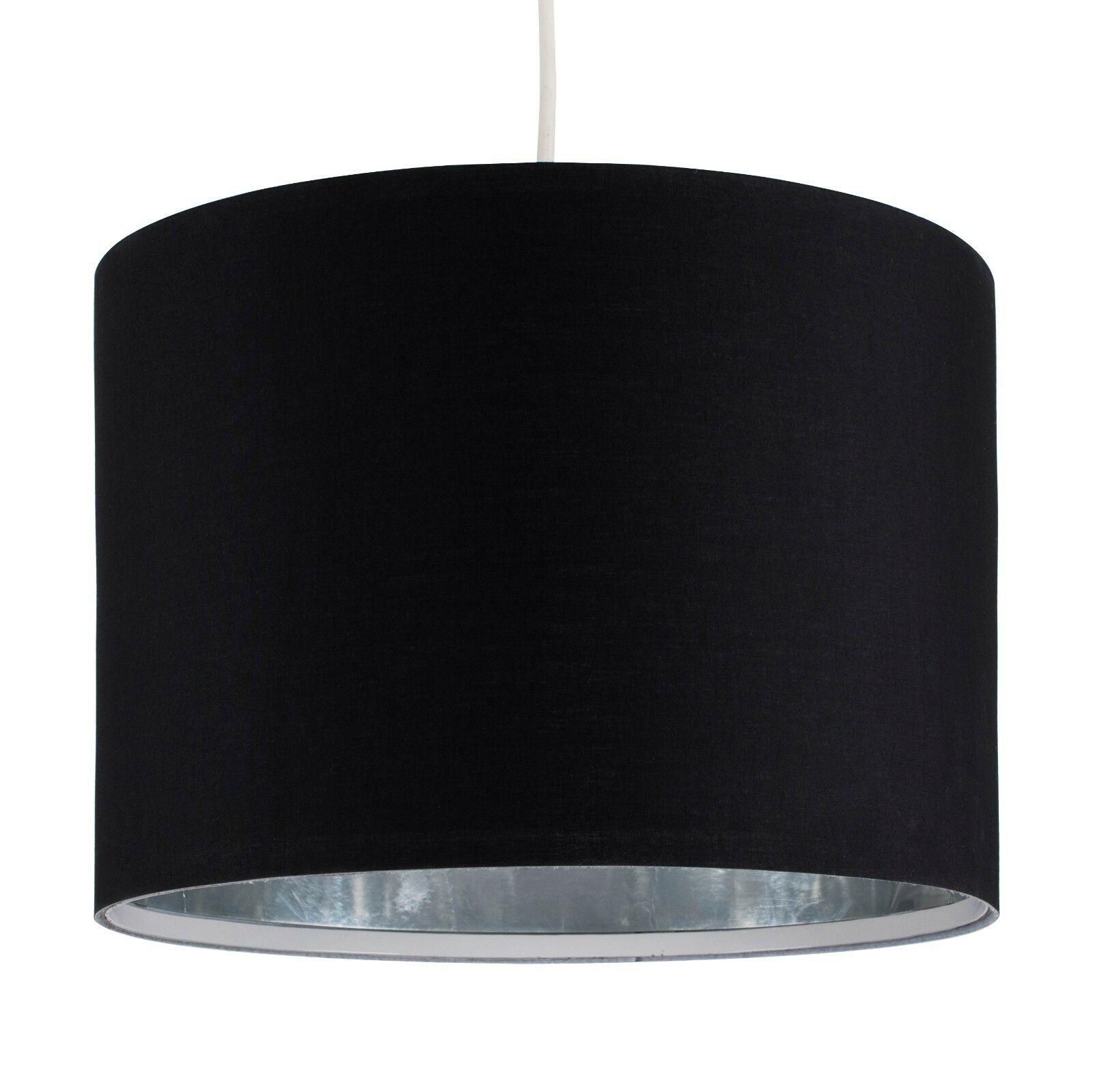 Tela-moderna-algodon-facil-ajuste-Techo-Colgante-Pantalla-De-Mesa-tonos-de-luz-de-tambor miniatura 22