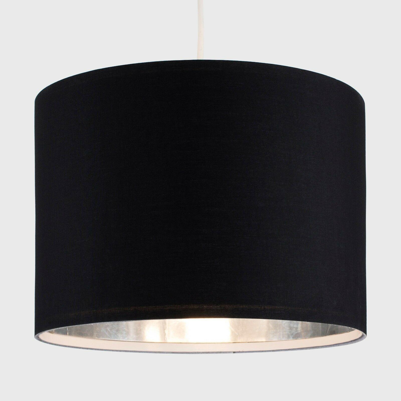 Modern-in-tessuto-cotone-Easy-Fit-Soffitto-Ciondolo-Luce-a-tamburo-Tonalita-Tavolo-Paralume miniatura 24