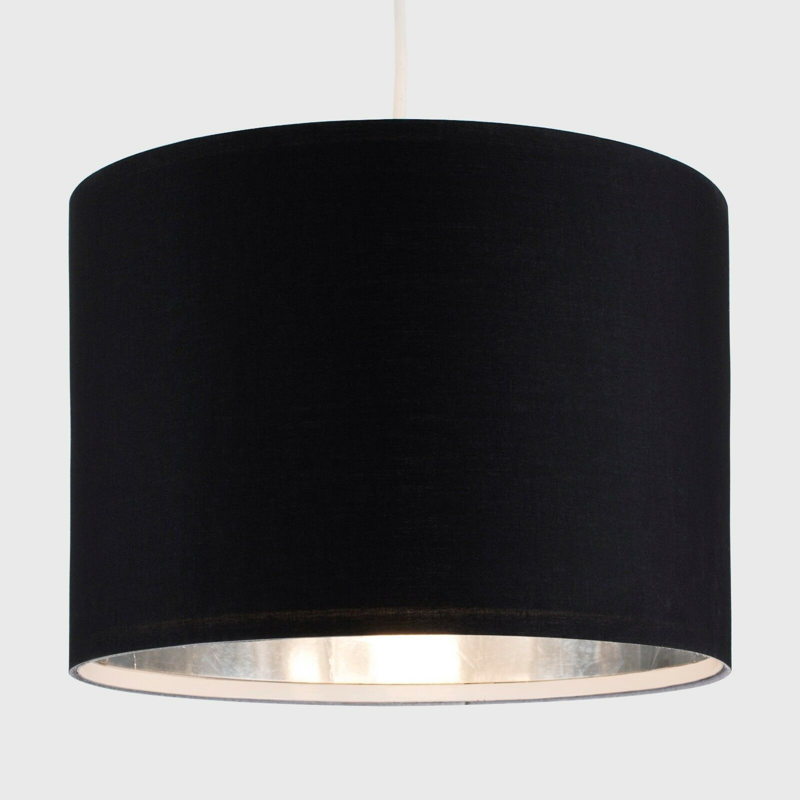 Tela-moderna-algodon-facil-ajuste-Techo-Colgante-Pantalla-De-Mesa-tonos-de-luz-de-tambor miniatura 24