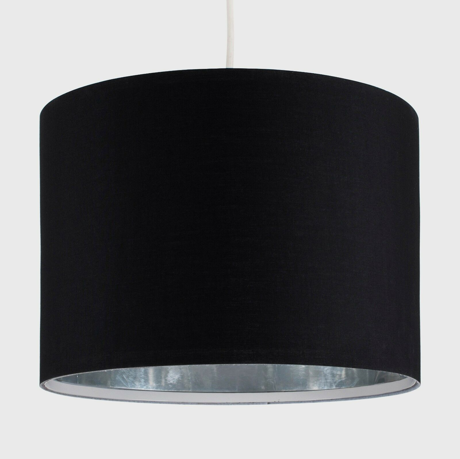 Tela-moderna-algodon-facil-ajuste-Techo-Colgante-Pantalla-De-Mesa-tonos-de-luz-de-tambor miniatura 23