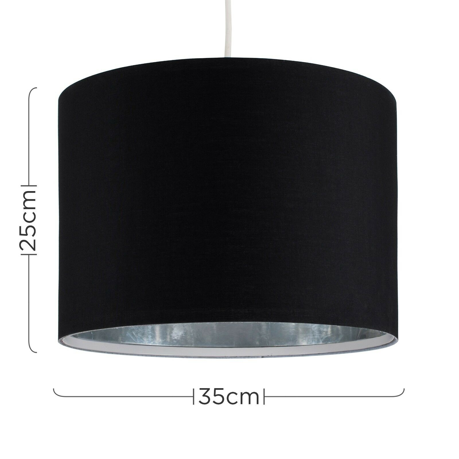 Modern-in-tessuto-cotone-Easy-Fit-Soffitto-Ciondolo-Luce-a-tamburo-Tonalita-Tavolo-Paralume miniatura 26