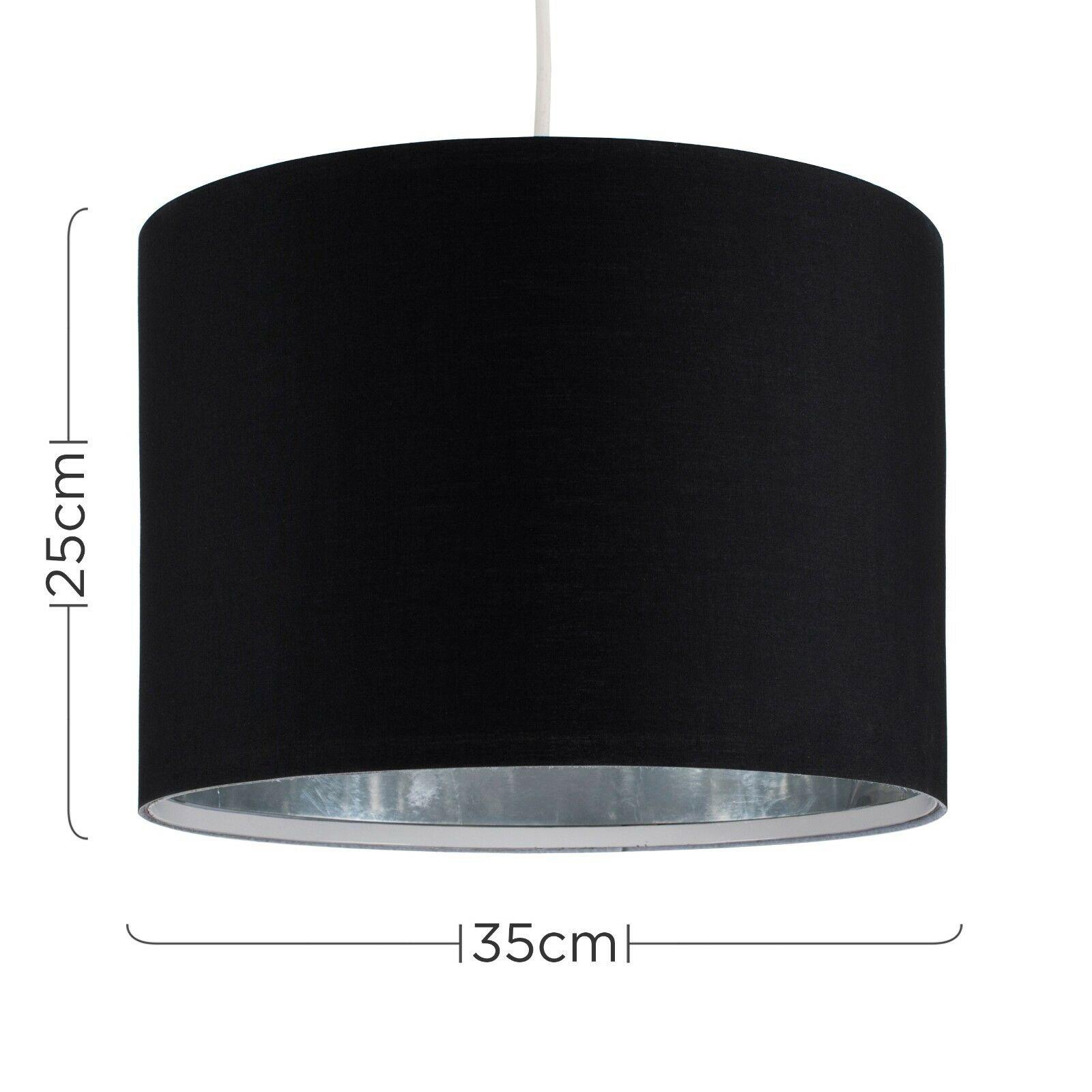 Tela-moderna-algodon-facil-ajuste-Techo-Colgante-Pantalla-De-Mesa-tonos-de-luz-de-tambor miniatura 26