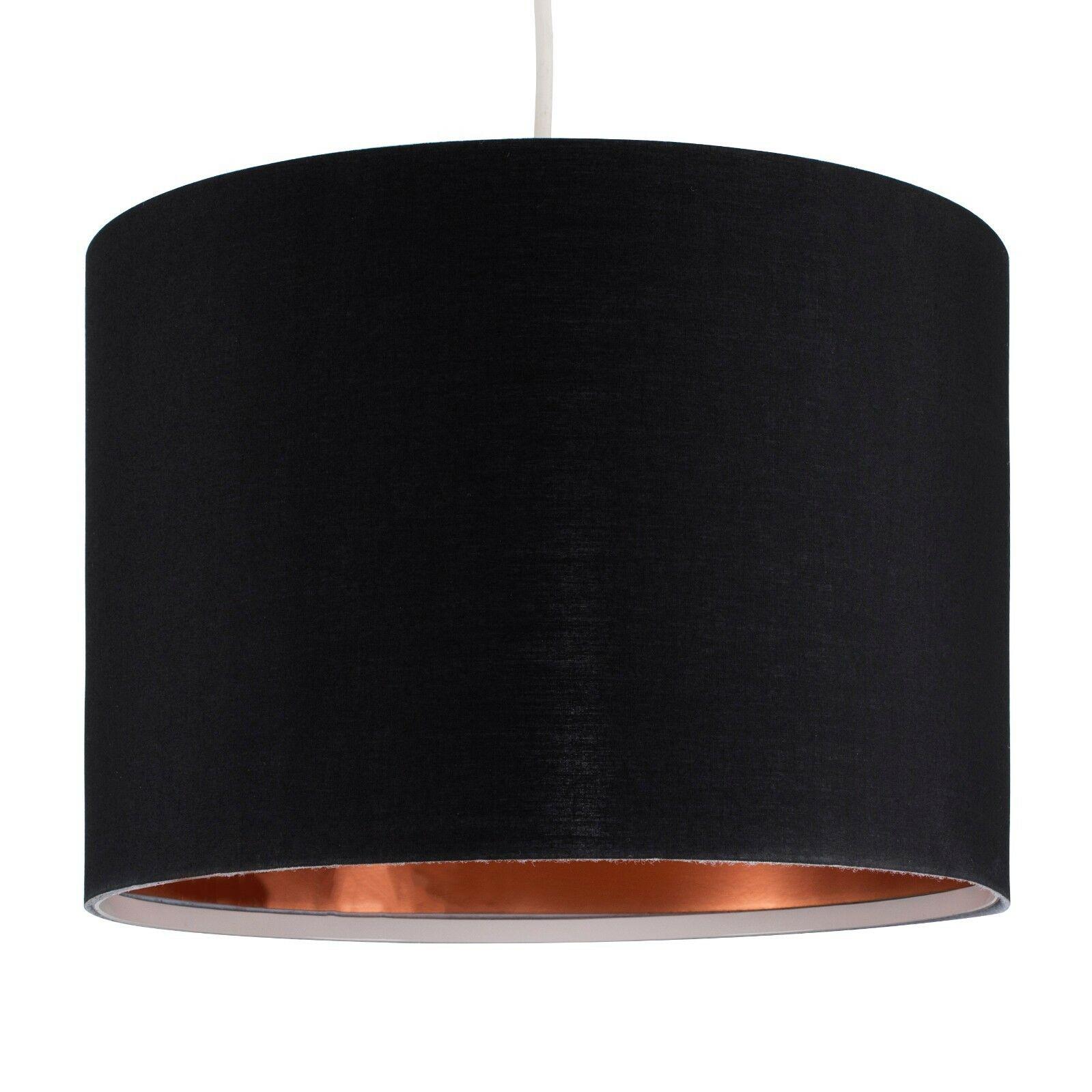 Modern-in-tessuto-cotone-Easy-Fit-Soffitto-Ciondolo-Luce-a-tamburo-Tonalita-Tavolo-Paralume miniatura 32