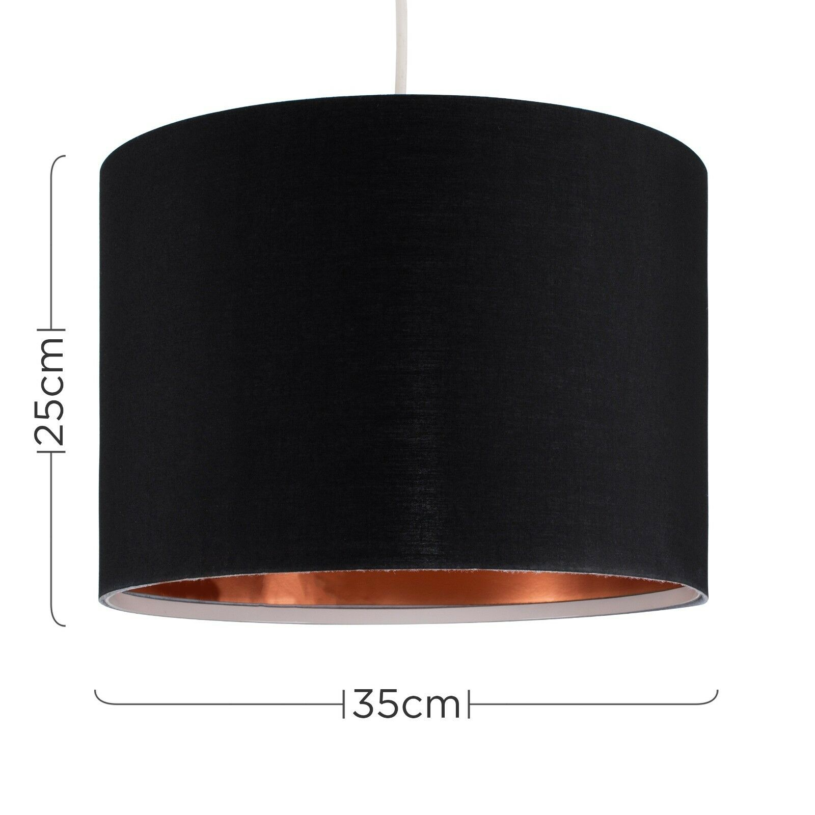 Tela-moderna-algodon-facil-ajuste-Techo-Colgante-Pantalla-De-Mesa-tonos-de-luz-de-tambor miniatura 36