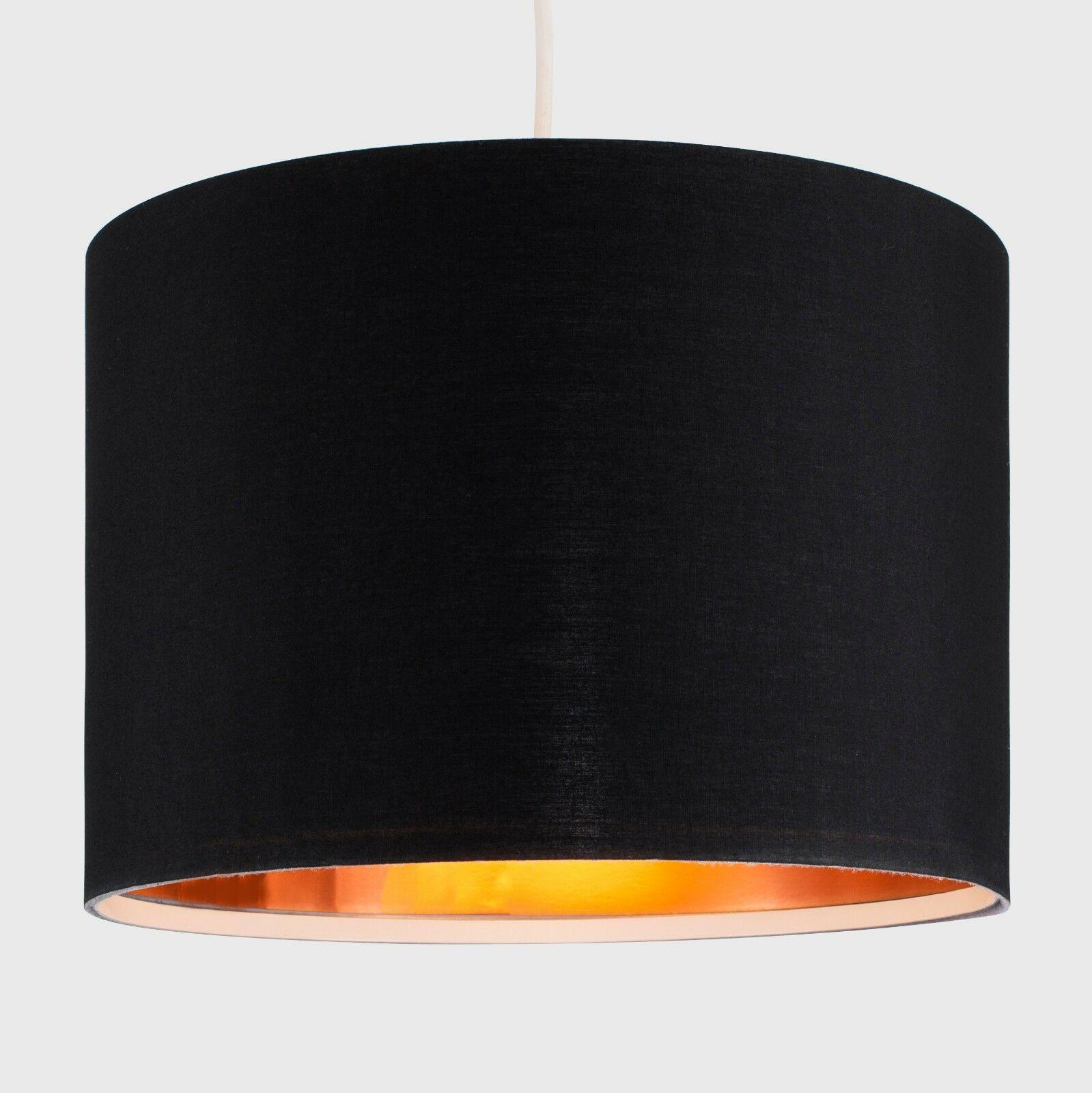 Tela-moderna-algodon-facil-ajuste-Techo-Colgante-Pantalla-De-Mesa-tonos-de-luz-de-tambor miniatura 34