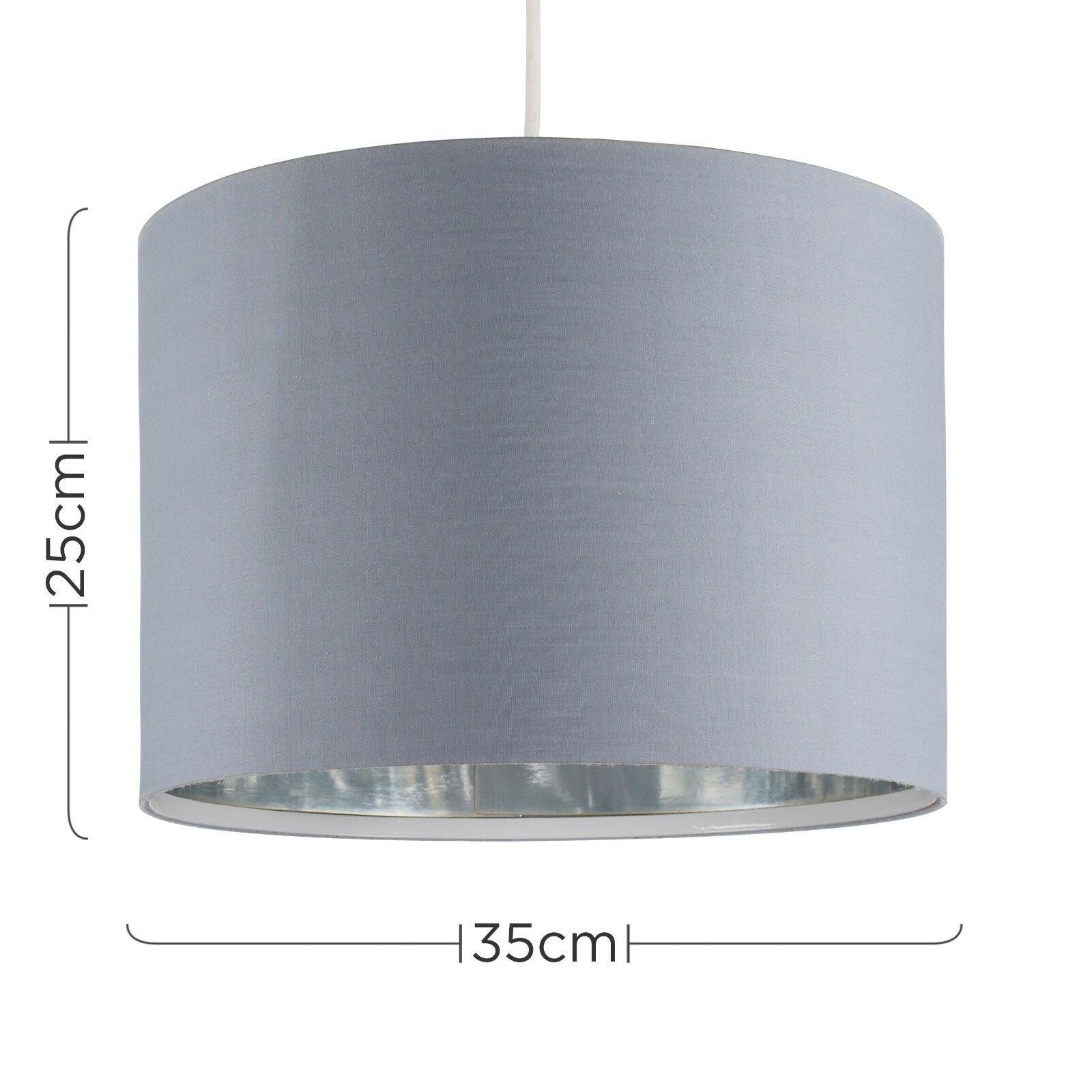 Modern-in-tessuto-cotone-Easy-Fit-Soffitto-Ciondolo-Luce-a-tamburo-Tonalita-Tavolo-Paralume miniatura 124