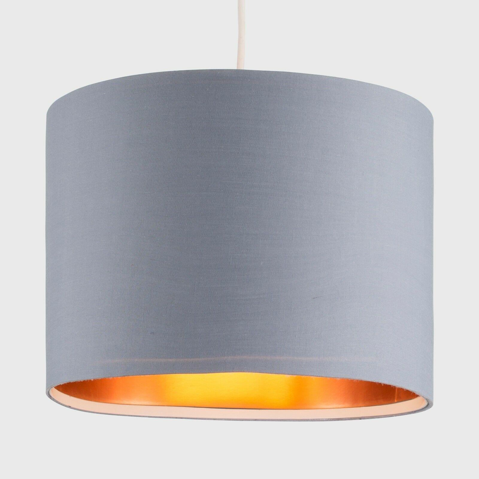Modern-in-tessuto-cotone-Easy-Fit-Soffitto-Ciondolo-Luce-a-tamburo-Tonalita-Tavolo-Paralume miniatura 132