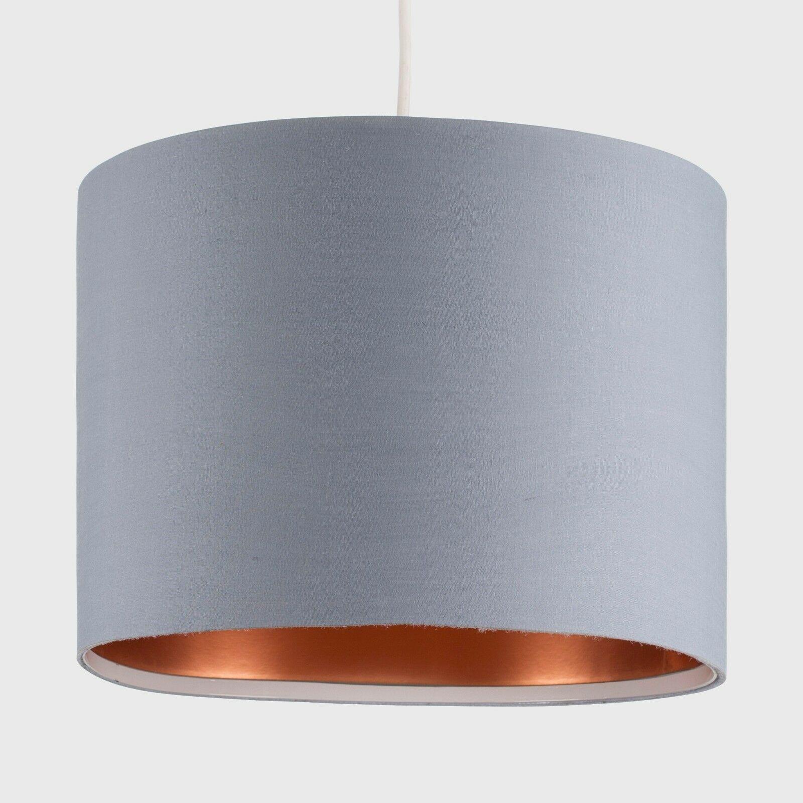 Modern-in-tessuto-cotone-Easy-Fit-Soffitto-Ciondolo-Luce-a-tamburo-Tonalita-Tavolo-Paralume miniatura 131