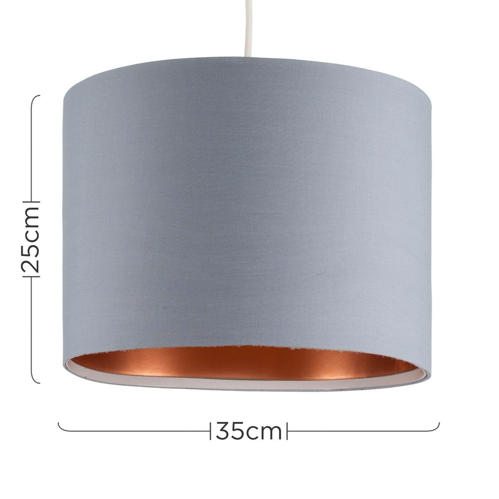 Modern-in-tessuto-cotone-Easy-Fit-Soffitto-Ciondolo-Luce-a-tamburo-Tonalita-Tavolo-Paralume miniatura 134