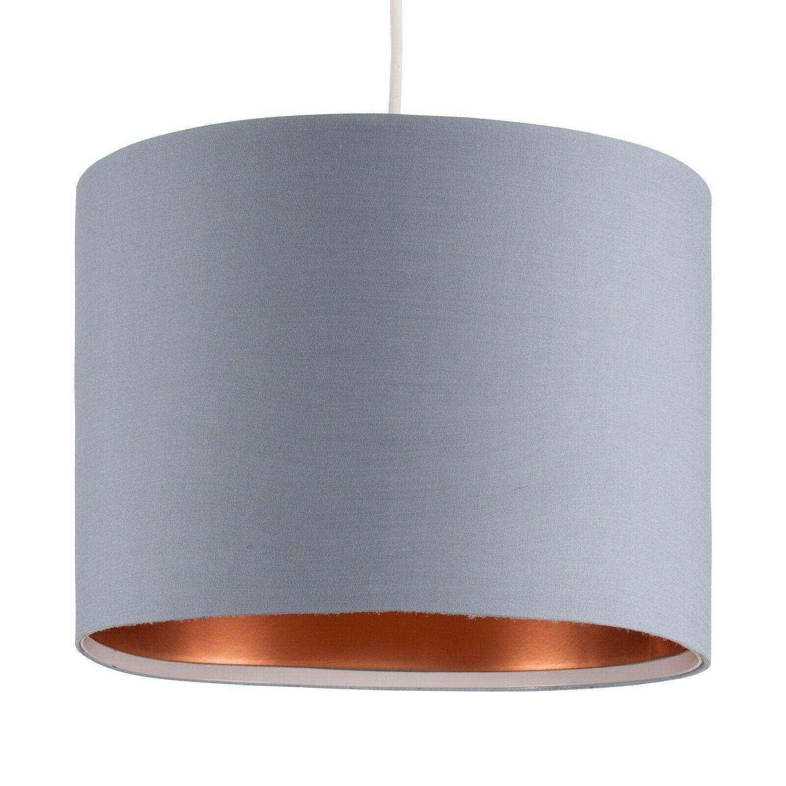 Tela-moderna-algodon-facil-ajuste-Techo-Colgante-Pantalla-De-Mesa-tonos-de-luz-de-tambor miniatura 130