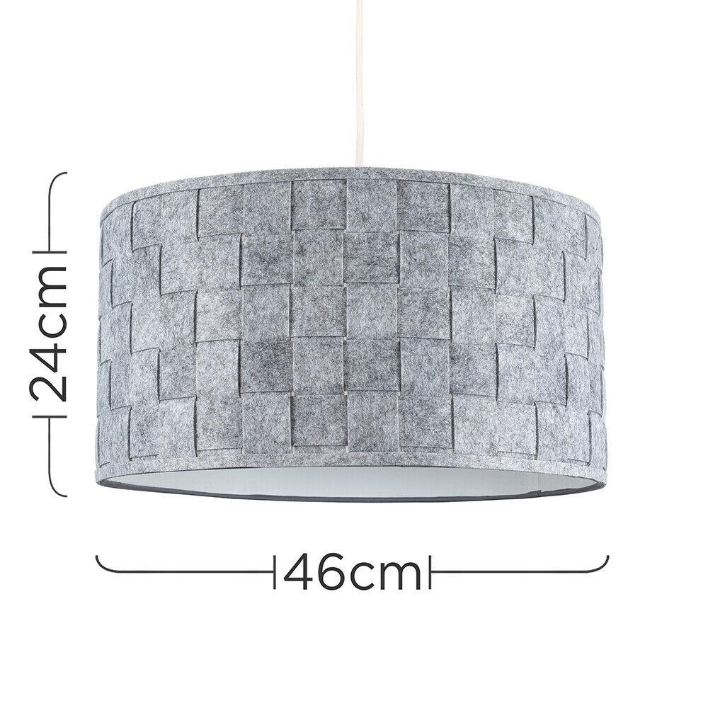 Modern-in-tessuto-cotone-Easy-Fit-Soffitto-Ciondolo-Luce-a-tamburo-Tonalita-Tavolo-Paralume miniatura 145