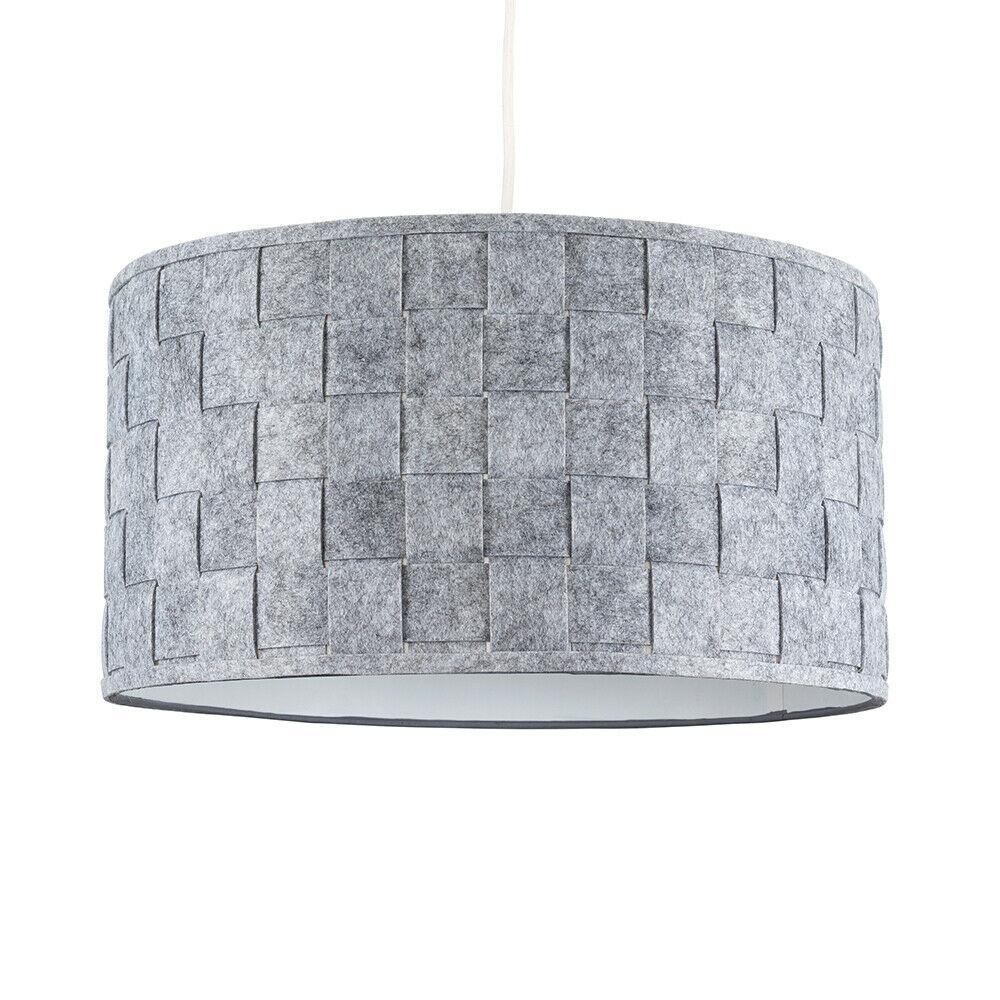 Modern-in-tessuto-cotone-Easy-Fit-Soffitto-Ciondolo-Luce-a-tamburo-Tonalita-Tavolo-Paralume miniatura 141