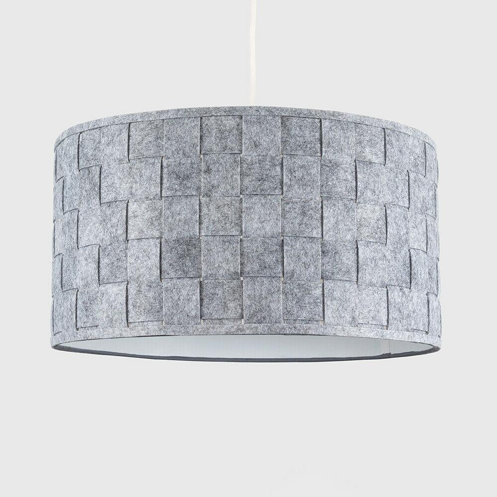 Modern-in-tessuto-cotone-Easy-Fit-Soffitto-Ciondolo-Luce-a-tamburo-Tonalita-Tavolo-Paralume miniatura 142