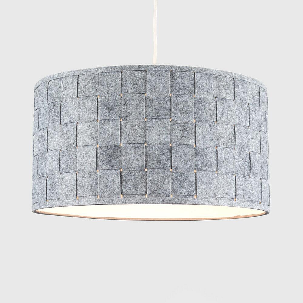 Modern-in-tessuto-cotone-Easy-Fit-Soffitto-Ciondolo-Luce-a-tamburo-Tonalita-Tavolo-Paralume miniatura 143