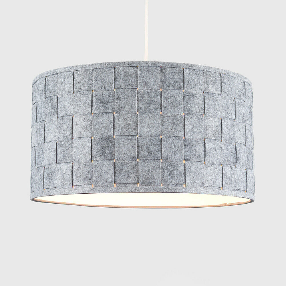 Tela-moderna-algodon-facil-ajuste-Techo-Colgante-Pantalla-De-Mesa-tonos-de-luz-de-tambor miniatura 143