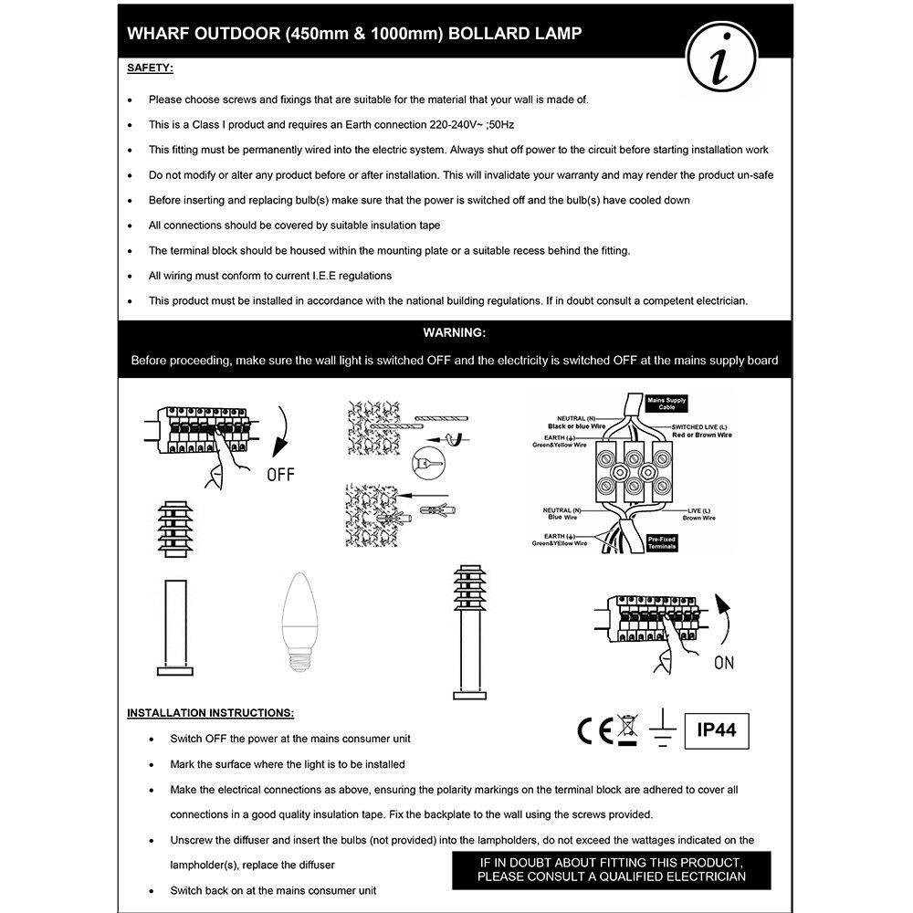 Modern-Stylish-Outdoor-Garden-Bollard-Driveway-LED-Lights-Lamp-Post-Lighting thumbnail 20