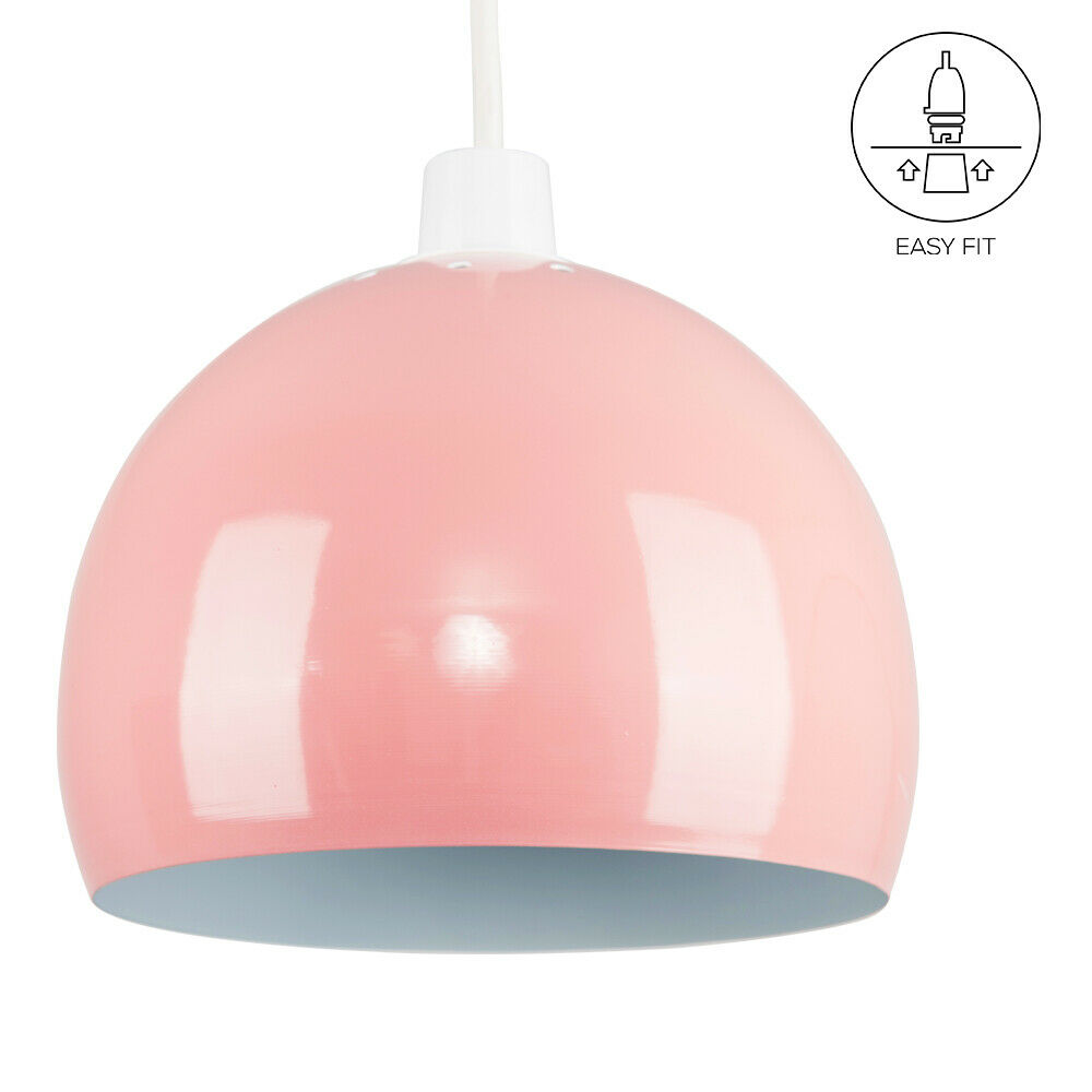 Modern-Metal-Dome-Retro-Style-Ceiling-Pendant-Light-Shade-Lampshades-Shades thumbnail 55