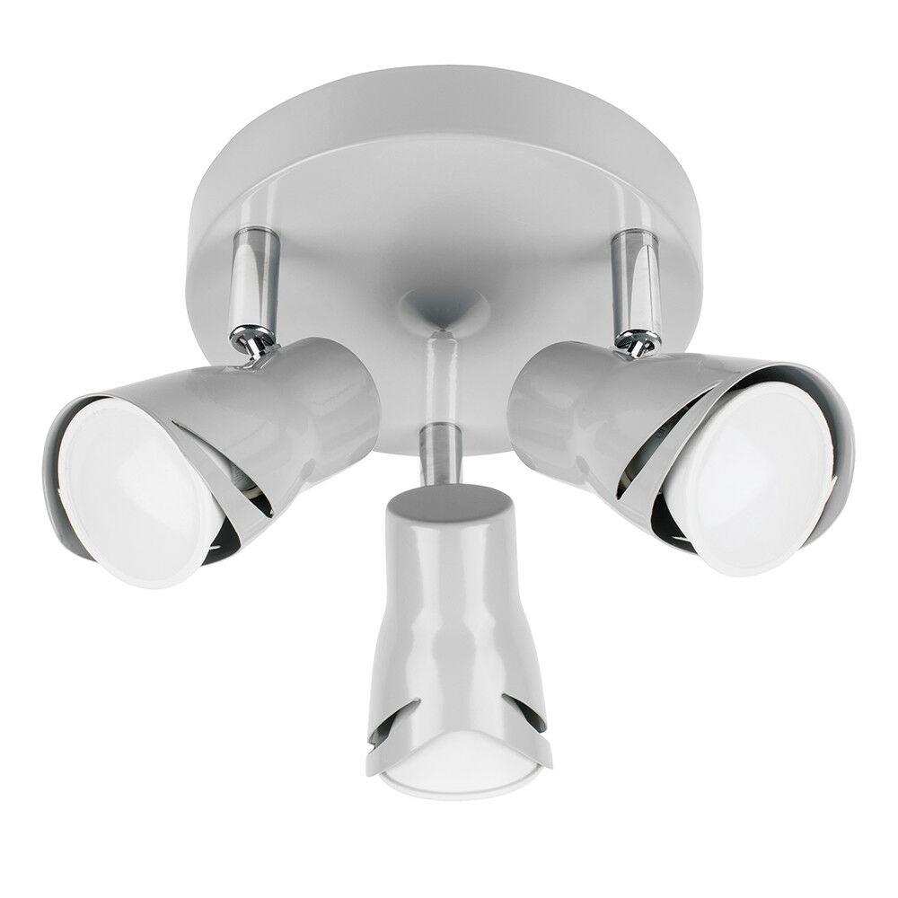 Modern-3-Way-LED-GU10-Ceiling-Spot-Lights-Spotlights-Black-Chrome-Copper-Grey thumbnail 30