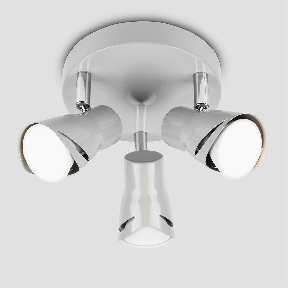 Modern-3-Way-LED-GU10-Ceiling-Spot-Lights-Spotlights-Black-Chrome-Copper-Grey thumbnail 32